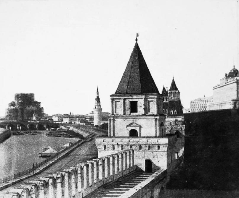 Строительство храма Христа Спасителя. 1856 год