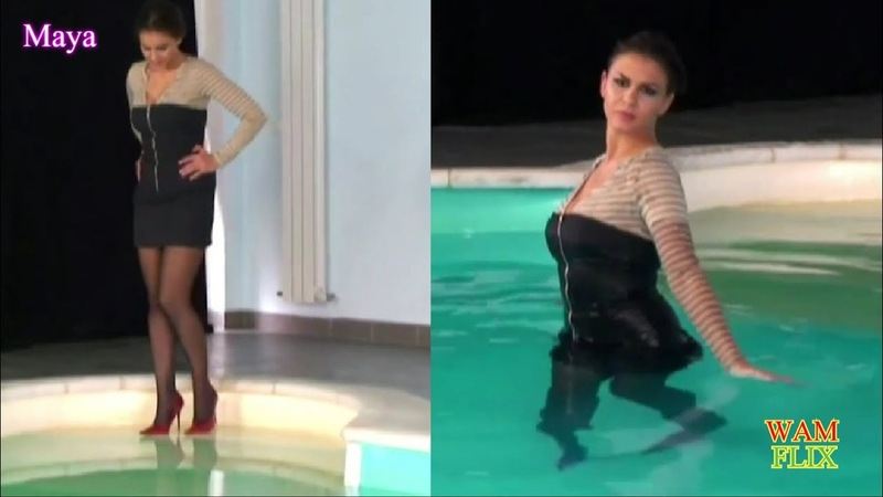 Maya's wetlook pool shoot