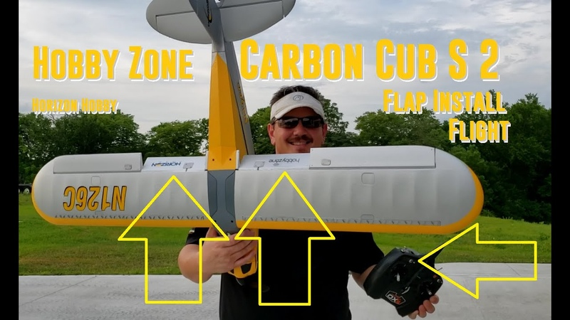 Horizon Hobby Carbon Cub S 2 Flap Install Flight