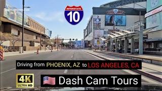 Driving from Phoenix, Arizona to Los Angeles, California on Freeway I-10 Dash Cam Tours 2020 4K