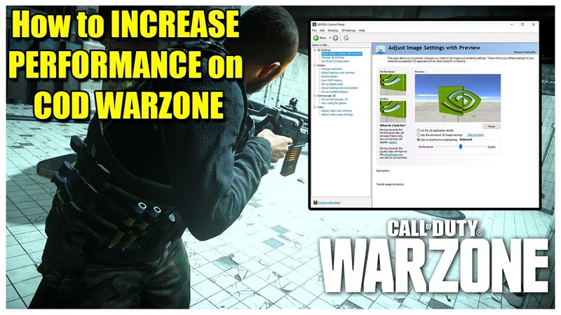 How to INCREASE PERFORMANCE on COD WARZONE in 2020✔ BEST NVIDIA CONTROL PANEL SETTINGS