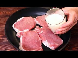 Беру самое сухое мясо и превращаю его в сочный стейк! Особый рецепт мяса на ужин #555