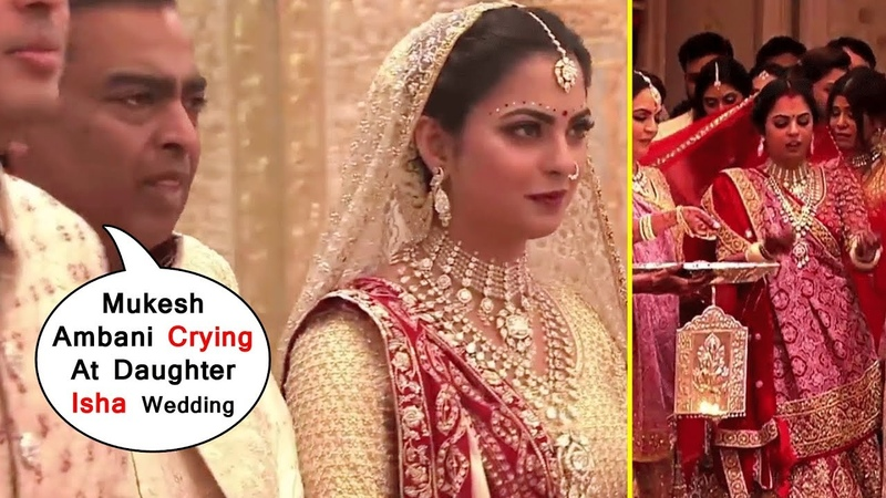 HD Mukesh Ambani Crying At All @Wedding Ceremony Of Daughter Ishas Ambanis @Marriage