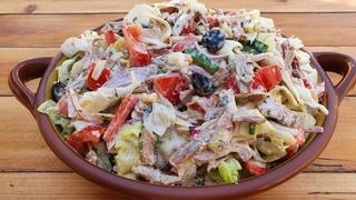 SUPER DELICIOUS SALAD RECIPE! BEEF SALAD WITH VEGETABLES!