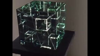 Tesseract - Hypercube 4th dimension Infinity Mirror Art Sculpture by Nicky Alice