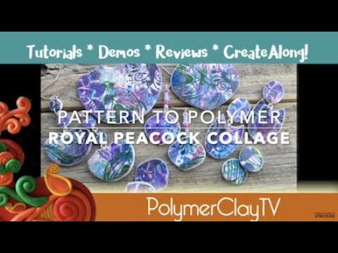 Learn to Make Eye Catching Royal Peacock Collage Polymer Clay Jewelry