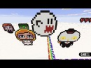 Minecraft Pixel Art - How To Make a Ghost from Super Mario Bros by Garbi KW