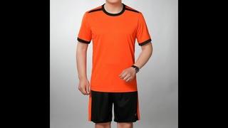 Летний яркий мужской спортивный костюм, желтая, красная, оранжевая, зеленая тонкая футболка и черные шорты, комплект из 2
