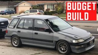 YoungStatic 1990 Honda Civic SLEEPER Wagon EF: Budget Build