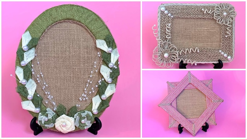 DIY Jute Picture Frame/ Handmade Burlap Photo Frame/ Picture Frame Diy