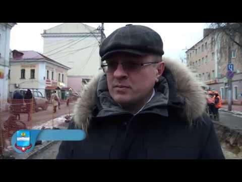 Дмитрий Денисов осмотрел ремонтируемый участок улицы Московской