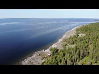 Швеция с высоты: остров Хольмён в провинции Вэстерботтен