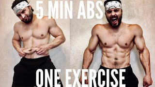 5 MIN ABS workout at home. ONE EXERCISE a day. 6 PACK ABS workout. НЕ ХИМИК