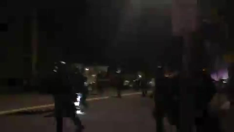 Here are Portland Police breaking up a riot of ANTIFA last night Guess it wasn't 'Trumps Troops' causing violence after all